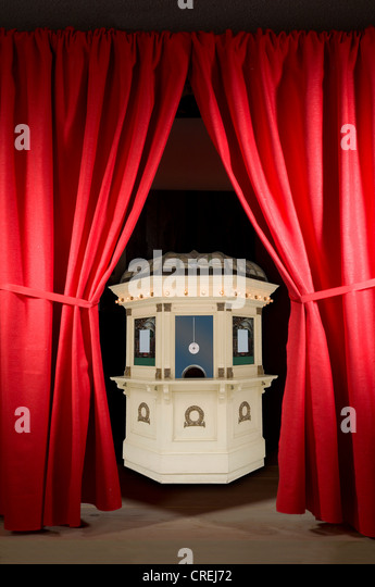 red curtains on stage with box office stock image art deco box office loew