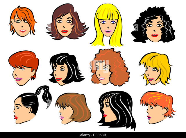 Different Hair Colors And Styles: Different Hairstyles Stock Photos & Different Hairstyles
