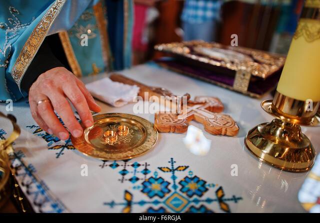 Hand of priest on wedding rings at church   Stock ImageOrthodox Wedding Service Stock Photos   Orthodox Wedding Service  . Orthodox Wedding Rings. Home Design Ideas