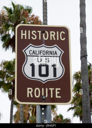 Encinitas 101 Mainstreet Association: Us Highway North Sign Highway Stock Photos & Us Highway