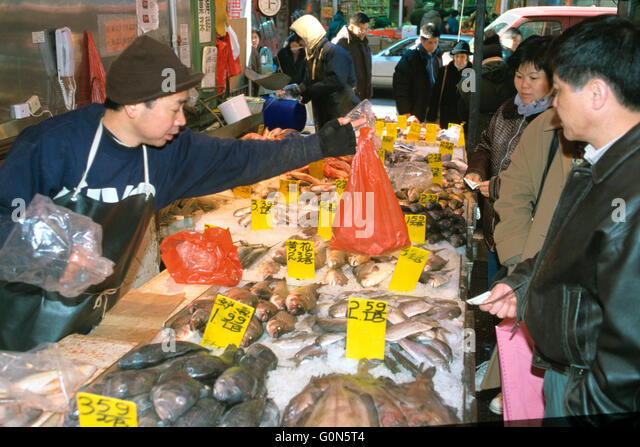 Fresh fish market in chinatown stock photos fresh fish for Chinatown fish market