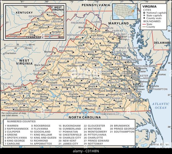 Map Of Virginia Stock Photos Amp Map Of Virginia Stock