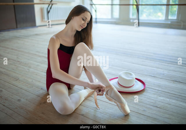 Ballet shoe foot stock photos ballet shoe foot stock for Dance where you sit on the floor