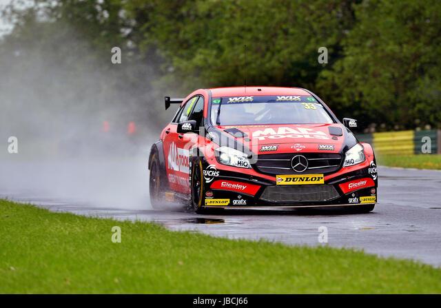 Dalton On Tees, UK. 10, June, 2017. Adam Morgan driving car number 33, the Mercedes-Benz A-Class for Ciceley Motorsport, - Stock Image