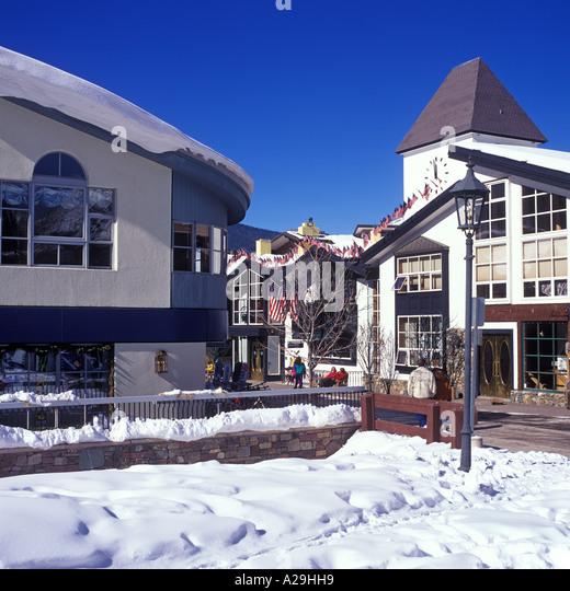 Vail Colorado Winter Town Stock Photos & Vail Colorado