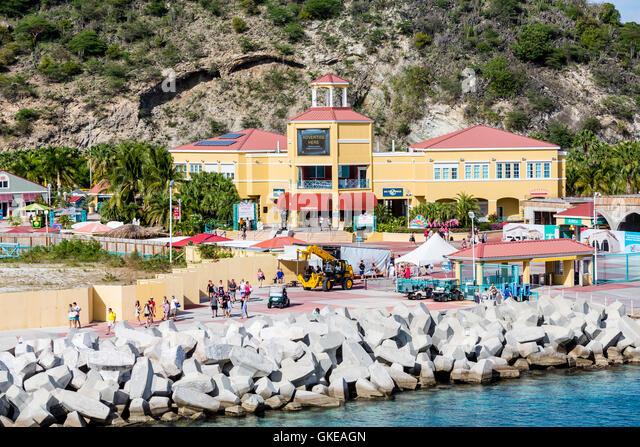 St Maarten Cruise Port Stock Photos St Maarten Cruise Port Stock - Philipsburg st maarten cruise ship schedule
