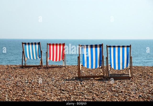 Deck Chair Beach Uk Stock Photos Amp Deck Chair Beach Uk