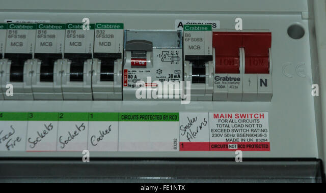 an electricity fuse box fe1ntx home fuse box stock photos & home fuse box stock images alamy crabtree fuse box at panicattacktreatment.co