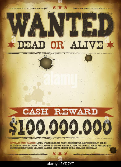 Wanted Poster Template Stock Photos & Wanted Poster Template Stock