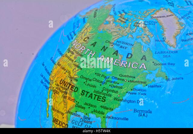 Map Of United States Stock Photos Map Of United States Stock - Us map on globe