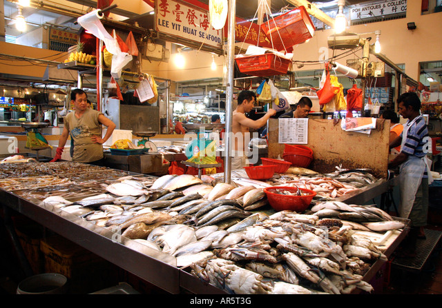 Fish traders stock photos fish traders stock images alamy for Chinatown fish market