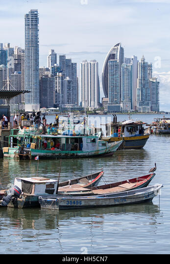 Panama city landscape stock photos panama city landscape for Fish market panama city beach