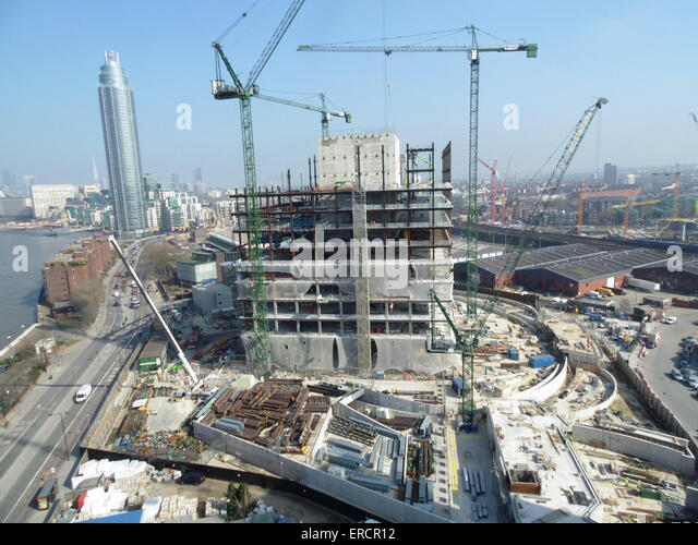 View Of Construction On The New Us Embassy Building In Nine Elms Battersea London