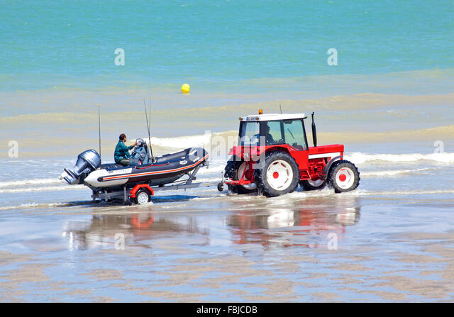 Tractor Pull Boats : Boat and trailer stock photos