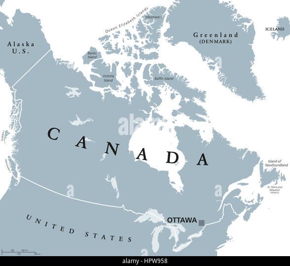 Map America Canada States Stock Photos Map America Canada States