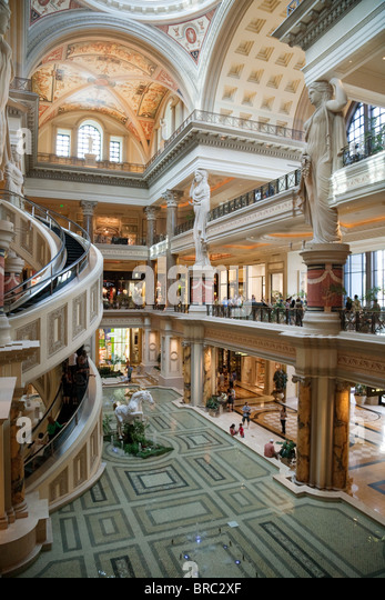 The Luxurious Entrance To Forum Shops In Caesars Palace Hotel Las Vegas USA