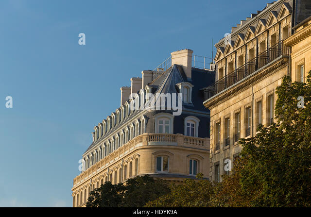 French mansard roof stock photos french mansard roof for Mansard architecture