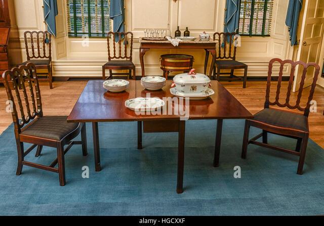 Colonial Williamsburg Governoru0027s Palace Dining Table.   Stock Image