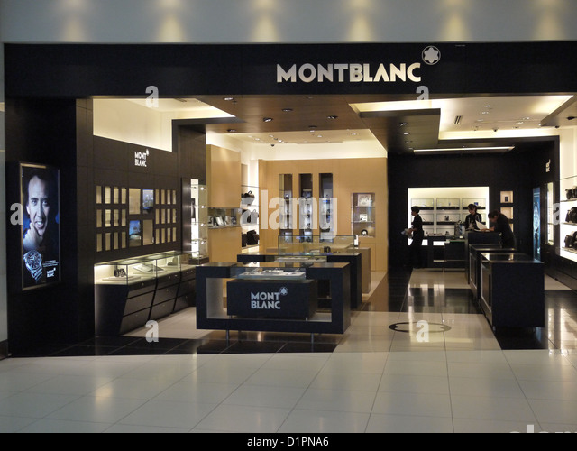 montblanc retail shop stock photos montblanc retail shop. Black Bedroom Furniture Sets. Home Design Ideas