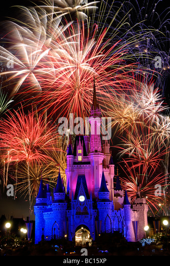 disney world castle at night with fireworks wwwpixshark