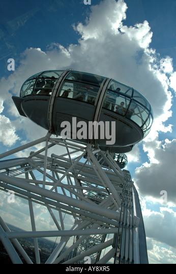 Inside London Eye Capsule Stock Photos & Inside London Eye