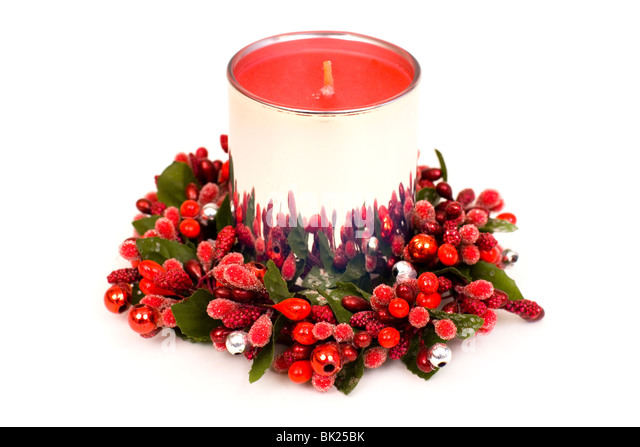 Candle isolated stock photos candle isolated stock for 7 candle christmas decoration
