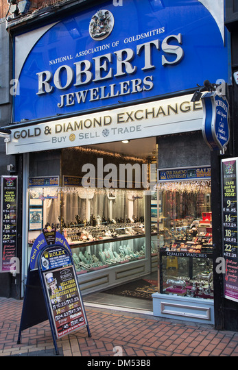 Goldsmiths and jewellers stock photos goldsmiths and for Sell jewelry birmingham al