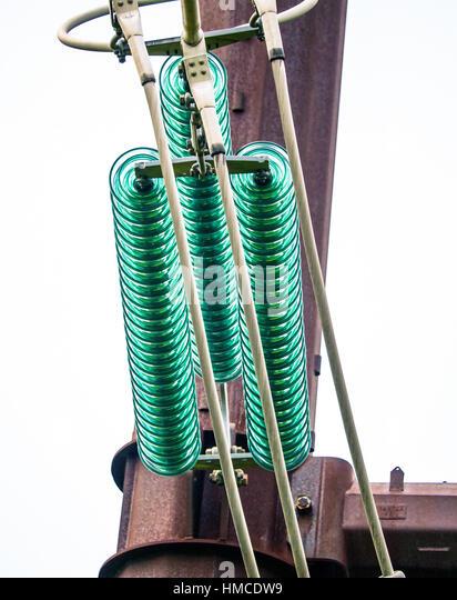 Insulator voltage closeup stock photos insulator voltage for Power line insulators glass