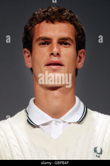 Tennis andy murray kit launch the tramshed stock bilder