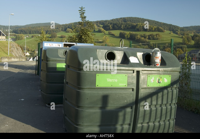 Recycling bin and plastic and glass stock photos for Container alsace