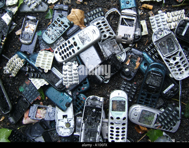 Pile Of Cell Phones : Pile mobile phones covers stock photos