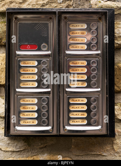 Apartment Building Entry Systems apartment building door stock photos & apartment building door