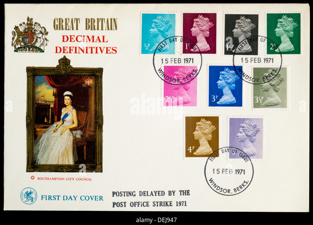 Decimal definitives stock photos decimal definitives stock images alamy - Great britain post office ...