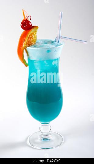 Blue martini cherry stock photos blue martini cherry for Orange and blue cocktails