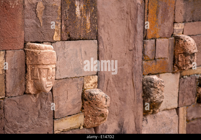 Carved Stone Fence : Precolumbian stock photos images alamy