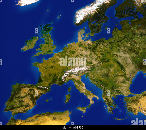 Europe Satellite Continent Stock Photos Europe Satellite - Europe satellite map
