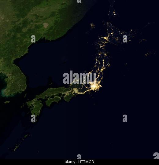 Night globe city light map asia east stock photos night globe city lights on world map japan stock image gumiabroncs Choice Image