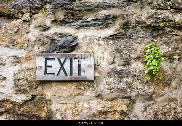 Exterior Exit Sign Stock Photos Exterior Exit Sign Stock Images