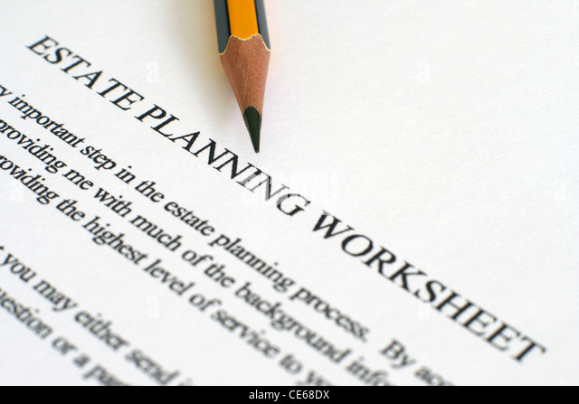 Worksheets Estate Planning Worksheet estate planning worksheet stock photos image