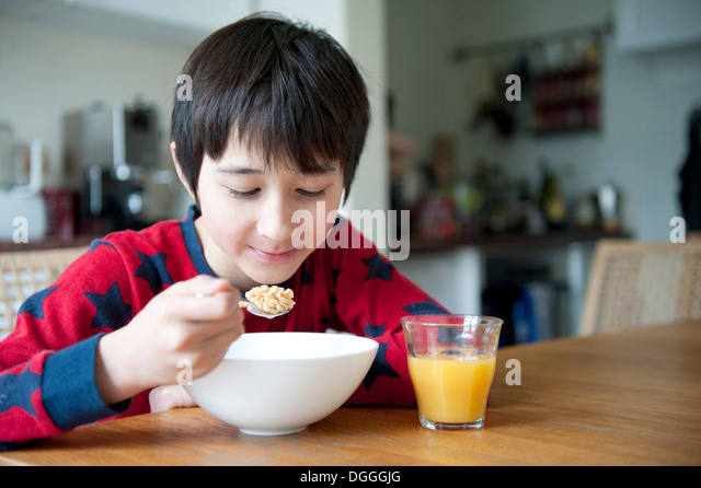 Cereal Bowl Child Stock Photos & Cereal Bowl Child Stock ...