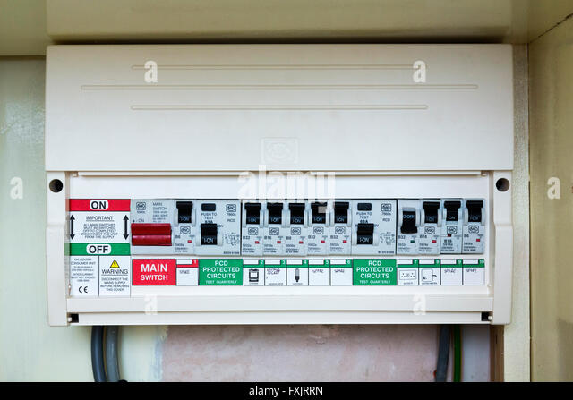 fusebox with circuit breakers fxjrrn fusebox stock photos & fusebox stock images alamy fuse box cover at crackthecode.co