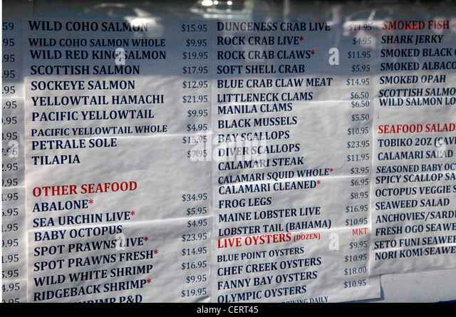 Price list stock photos price list stock images alamy for Fish stocking prices