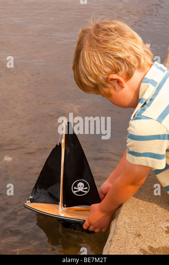 Lake Toys For Boys : Toy boat lake stock photos images