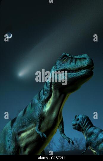 Dinosaur Extinction Asteroid Stock Photos & Dinosaur ...