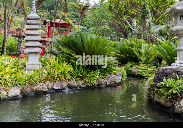 Monte Palace Tropical Gardens in Madeira, Portugal Stock Photo ...