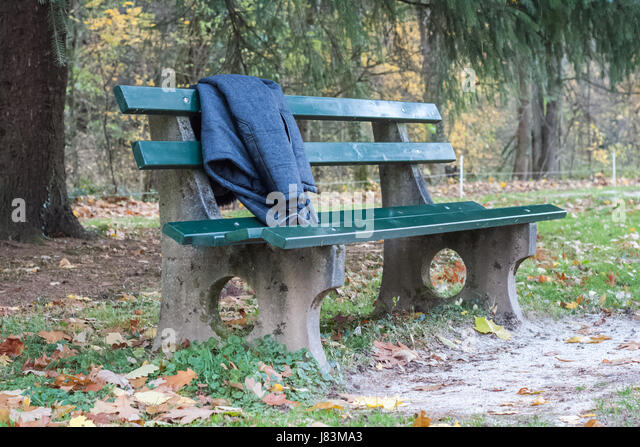 Bench In Park Concrete Bench Stock Photos Amp Bench In Park