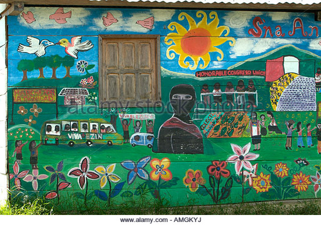 Zapatista stock photos zapatista stock images alamy for Mural zapatista