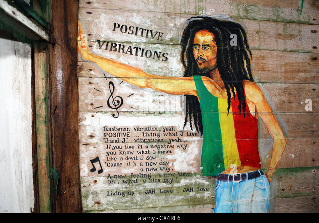 Jamaican dreadlocks stock photos jamaican dreadlocks for Bob marley mural