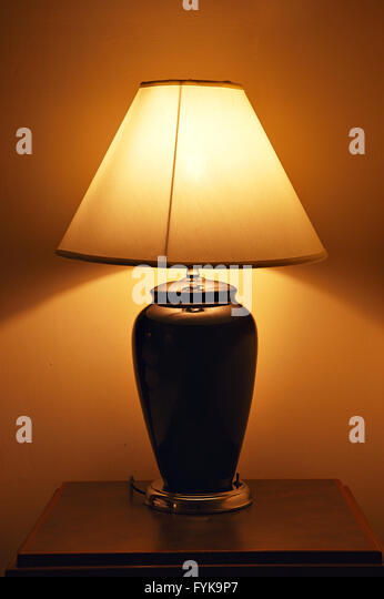 Old style lamp shade stock photos old style lamp shade stock old style table lamp stock image aloadofball Images