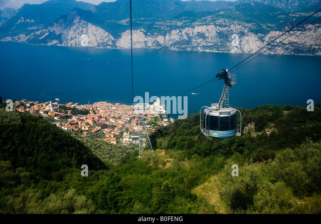 Cable Car From Malcesine Italy Stock Photos Cable Car From